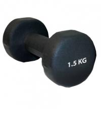 SPORTEX Гантель неопреновая BLACK 1,5 кг