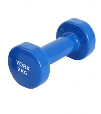 YORK Гантель виниловая BLUE 2 кг