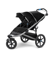 THULE Детская двухместная коляска Thule Urban Glide² Double, Jet Black, черный