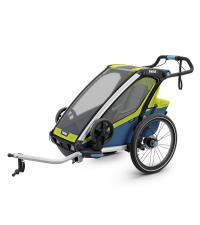 THULE Детская мультиспортивная коляска Thule Chariot Sport 1, салатовая