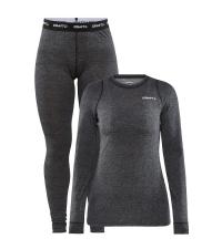 CRAFT Комплект женский: футболка + рейтузы CORE WOOL MERINO