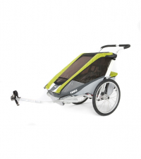 THULE Коляска Thule Chariot Cougar1/Кугар1, в комплекте с велосцепкой, авокадо 10100935