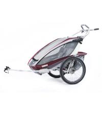 10101324 Коляска Thule Chariot CX2/Си Икс2, в комплекте с велосцепкой, бордовый, 14-