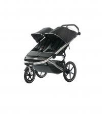 THULE Детская двухместная коляска Thule Urban Glide 2, тёмно-серая