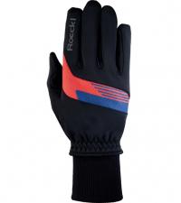 ROECKL Лыжные перчатки GETA Jr. black/fiesta red