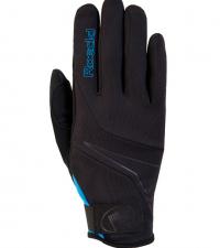 ROECKL Лыжные перчатки LILLBY Jr. black/blue