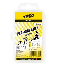 TOKO Парафин низкофтористый PERFORMANCE YELLOW (+10/-4), 40 г