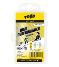 TOKO Парафин высокофтористый HIGH PERFORMANCE YELLOW (+10/-4), 40 г