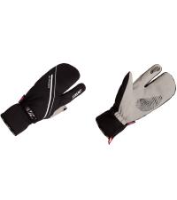 KV+ Перчатки трехпалые GLACIER Black