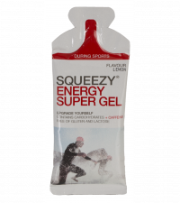 SQUEEZY Гель энергетический ENERGY SUPER GEL лимон+кофеин, 33 г