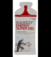 SQUEEZY Гель энергетический ENERGY SUPER GEL лимон+кофеин, 33 г