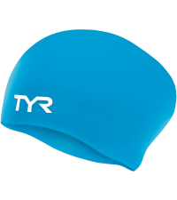 TYR Шапочка для плавания Long Hair Wrinkle-Free Silicone Cap
