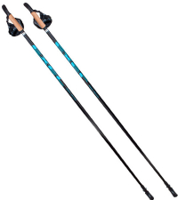 EXEL Палки для ходьбы NORDIC WALKER EVO BLACK/BLUE