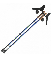 ERGOFORCE Палки для ходьбы телескопические, синий/красный