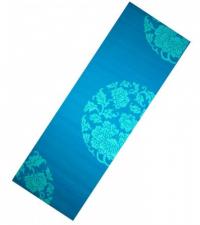 LIVEUP Коврик для йоги PVC PRINTED BLUE 6 мм