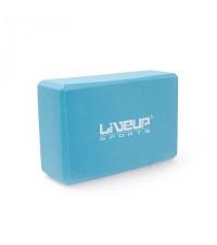 LIVEUP Блок для йоги EVA BRICK Blue
