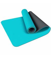 LIVEUP Мат для йоги TPE Blue-Black 6 мм