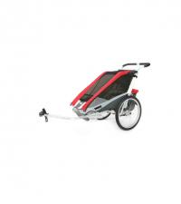 10100936 Коляска Thule Chariot Cougar2/Кугар2, в комплекте с велосцепкой, красный, 14-