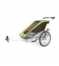 10100937 Коляска Thule Chariot Cougar2/Кугар2, в комплекте с велосцепкой, авокадо, 14-
