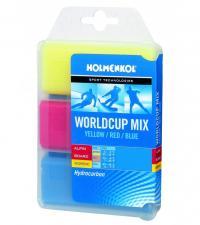 HOLMENKOL World Cup Mix WET Высокофтористый парафин Тёплый (0° до -4°C) 150гр