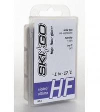 Смазка для лыж SkiGo Парафины высокофтористые HF Violet, -1/-12 (для стар. жест. абраз. снега) 45 г.