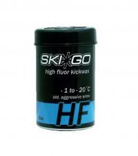 Смазка для лыж SkiGo Мази держания HF Kickwax Blue -1/-20 (все типы снега, кроме нового) 45 г.