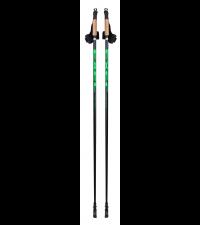EXEL Палки для ходьбы NORDIC WALKER EVO BLACK/GREEN