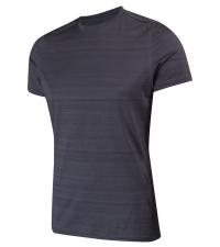 NONAME Футболка PRO RUNNING T-SHIRTS 18 UNISEX GRAY MEL, серый/черный