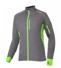NONAME Куртка ROBIGO RUNNING 17 UNISEX GRAY разминочная, серый/лаймовый