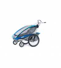 10101325 Коляска Thule Chariot CX2/Си Икс2, в комплекте с велосцепкой, синий, 14-