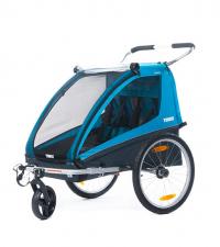 THULE Детский велоприцеп Thule Coaster XT с комплектом для прогулочной коляски, синий