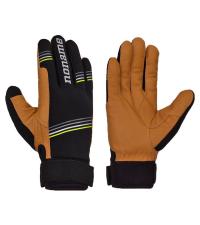 NONAME Перчатки PURSUIT GLOVES 19 гоночные кожаные, черный/бежевый