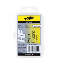 TOKO Парафин высокофтористый HF WC HOT WAX YELLOW (0/-6), 40 г.