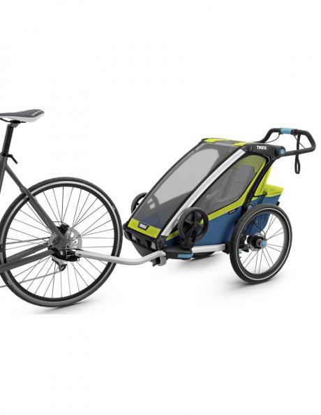 THULE Детская мультиспортивная коляска Thule Chariot Sport 1, салатовая Артикул: 10201002