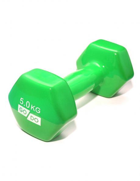 GO DO Гантель виниловая GREEN 5 кг Артикул: 31731