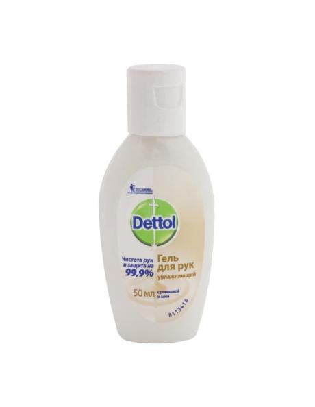 Антисептик Dettol гель для рук антибактериальный увлажняющий 50 мл (1 шт.) Артикул: 36103