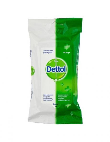 Влажные салфетки Dettol антибактериальные (10 шт.) Артикул: 36109