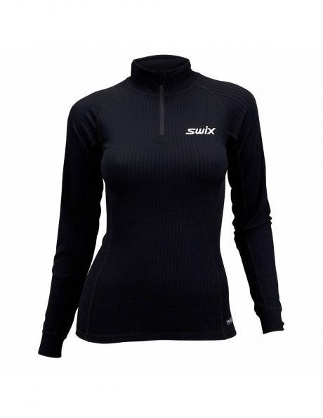 SWIX Футболка с длинным рукавом, воротником-стойкой и молнией у ворота женская RACEX Артикул: 40826