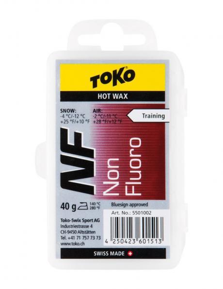 TOKO Парафин NF TRAINING HOT WAX RED (-4/-12), 40 г Артикул: 5501002