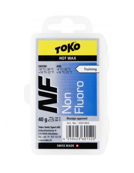 TOKO Парафин NF TRAINING HOT WAX BLUE (-10/-30), 40 г Артикул: 5501003