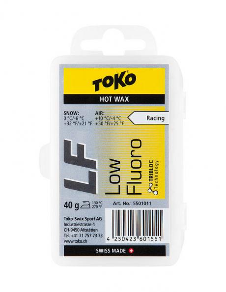 TOKO Парафин низкофтористый LF RACING HOT WAX YELLOW (0/-6), 40 г Артикул: 5501011