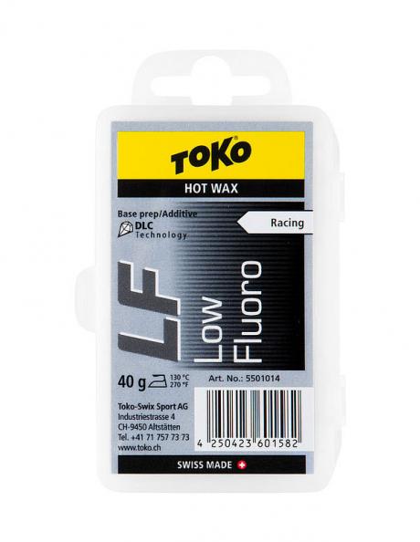TOKO Парафин низкофтористый базовый LF RACING HOT WAX BLACK, 40 г Артикул: 5501014