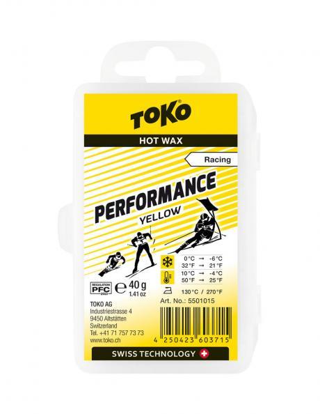 TOKO Парафин низкофтористый PERFORMANCE YELLOW (+10/-4), 40 г Артикул: 5501015