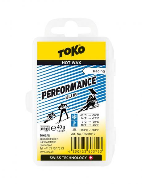 TOKO Парафин низкофтористый PERFORMANCE BLUE (-9/-30), 40 г Артикул: 5501017