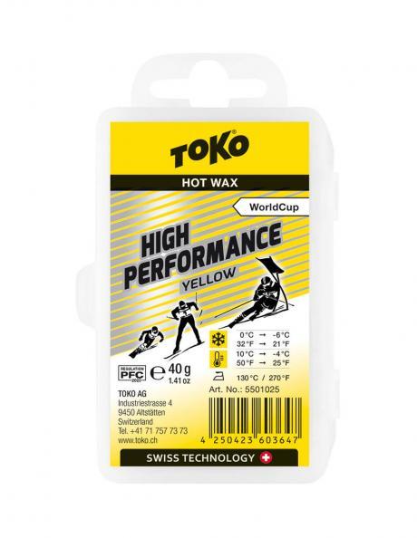 TOKO Парафин высокофтористый HIGH PERFORMANCE YELLOW (+10/-4), 40 г Артикул: 5501025