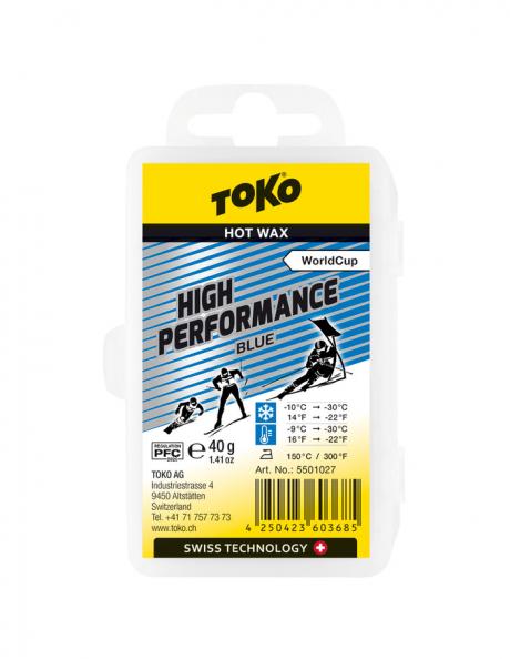 TOKO Парафин высокофтористый HIGH PERFORMANCE BLUE (-9/-30), 40 г Артикул: 5501027