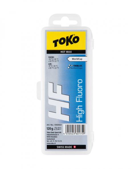 TOKO Парафин высокофтористый HF WC HOT WAX BLUE (-10/-30), 120 г Артикул: 5502023