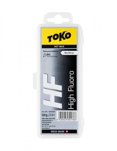 TOKO Парафин высокофтористый базовый HF WC HOT WAX BLACK, 120 г Артикул: 5502024