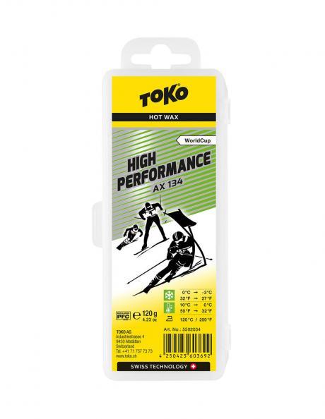 TOKO Парафин высокофтористый HIGH PERFORMANCE AX 134 (+10/0), 120 г Артикул: 5502034