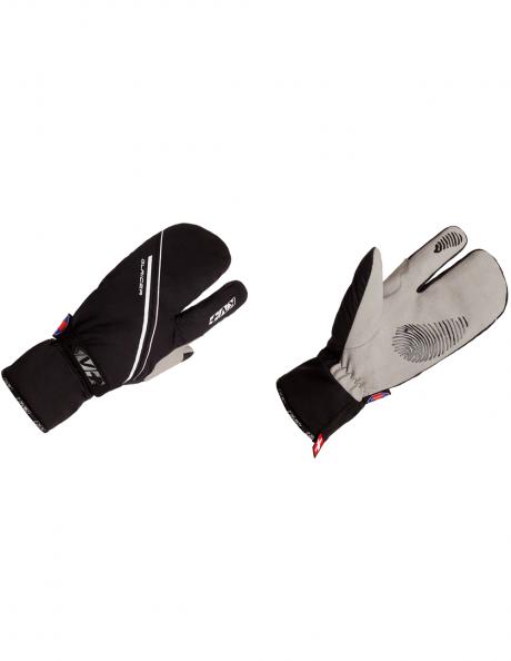KV+ Перчатки трехпалые GLACIER Black Артикул: 8G06.10